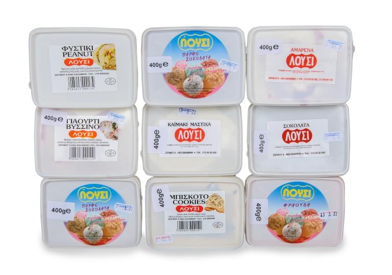 Παγωτά με γεύσεις